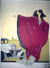 NINA ROSE Lithographie signée numérotée Estampe moderne de style art déco