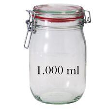 1000ml DRAHTBÜGELGLÄSER • BÜGELVERSCHLUSSGLÄSER MIT DECKEL 100 mm.