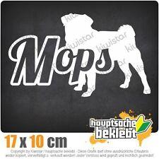 Mops mit Name Hund Pug csf0732  JDM  Sticker Aufkleber