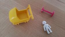 Playmobil Kinder/Puppenwagen 5403 Baby Kinderwagen Achse Klicky 1989