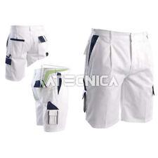 Bermudas blanco de trabajo con bolsillos AERRE COL pantalones cortos pintores