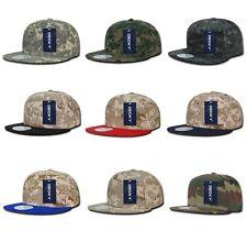 Digital Camo Woodland Desert ACU Camouflage Flat Bill Snapback Baseball Hat Cap