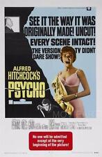 PSYCHO VINTAGE MOVIE POSTER CINEMA A4 A3 art print Cinema