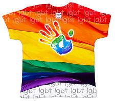 """"""" LGBT Bandera y huella"""" Bebé Camiseta Subli estampado Integral"""