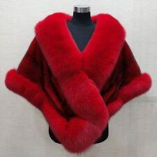 Ladies Fox Fur Collar Cape Wedding Faux Fur Coat Outwear Warm Fashion Jacket New