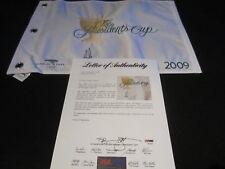 Ernie Els Signed 2009 Presidents Cup Pin Flag Psa/Dna Harding Park Sf