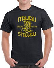 002 Italian Stallion mens T-shirt funny rocky movie 70s costume cool vintage