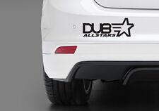 Dub Allstars Funny bumper/car/Window Vinyl Stickers Decal JDM Euro Dub Honda