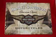 Lamiera SCUDO Harley Davidson grande 30x40 cm American Classic LAMIERA SCUDO cartelli