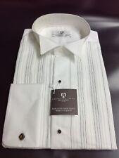 New White/Black stripe Dress Shirt Frederick Theak RRP £34.95