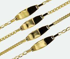GOLD DOUBLE *** Schildarmband 14-16 cm Identitätsarmband ID-Armband vergoldet