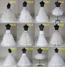 12 Style Bridal Petticoat White Crinoline Slips Underskirt for Wedding Dress