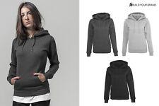 Build Your Brand Women's Heavy Hoody BY026-Full Sleeve Kangaroo Pouch Sweatshirt