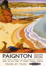RETRO TIN PLAQUE RAILWAY :PAIGNTON SOUTH DEVON : PLAQUE  Sign Ad/Sign 145