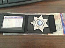 Bifold Credit Card Wallet with hidden Badge Holder Several badges available