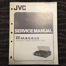 Original JVC Service Manual for K & KD Model Cassette Decks ~ Select One