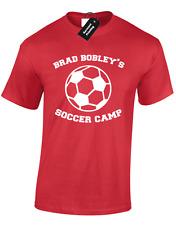 BRAD BOBLEYS SOCCER CAMP MENS T SHIRT FUNNY AM FOOTBALL TERRACES TRAINING TOP