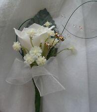 Página de Flores Boda CHILDS NIÑO Rose, Gyp, bear grass & Diamante Ojal