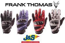 FRANK THOMAS FT4 court cuir moto Gants moto éte STUNT J&S