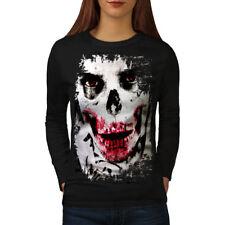 Joker Face Esqueleto Calavera para mujeres de manga larga T-shirt new | wellcoda