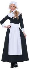 PILGRIM COSTUME COLONIAL PRAIRIE PURITAN PIONEER AMISH BLACK WOMAN ADULT BONNET
