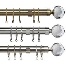 Linens Limited Glacier Crystal 25 - 28mm Extendable Metal Curtain Pole Set
