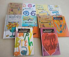 """Birthday November Hardcover Natalis Press 1990's 8 1/4""""L x 5 1/4"""" W"""