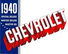 1940 CHEVROLET PASSENGER CAR SALES BROCHURE