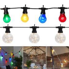 PREMIUM Party Lichterkette mit LED-Glühbirnen 230V Netzteil für Außen Garten