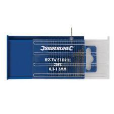 Silverline 0.3 to 1.6 mm Micro Miniature Drill Bit Set For Dremel type Drills