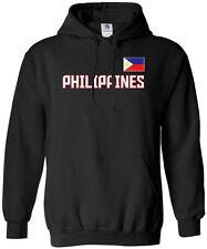 Threadrock Men's Philippines National Team Hoodie Sweatshirt manila flag