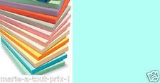 Lot 10 feuilles de papier A4 couleur BLEU CIEL pour scrapbooking 80g bleues