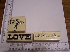 WM RUBBER STAMPS HAPPY VALENTINE 'S DAY LOVE WEDDING ANNIVERSARY I LOVE YOU