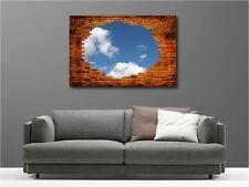 Tableaux toiles déco en kit Mur en Briques réf 44413471