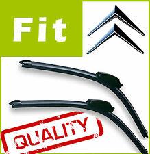 2 x Front AERO Stlye Windscreen Wiper Blades Specific Fit FLAT BEAM for Citroen