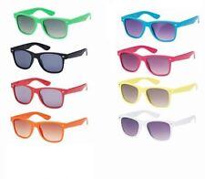 Yellow/Orange/Red/Pink/White/Green / Black 80s party glasses retro