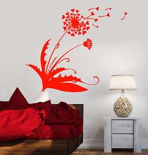 Vinyl Wall Decal Dandelion Blowball Flower Hearts Love Ladybug Stickers (1694ig)