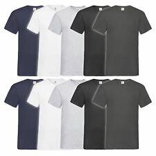 10er Pack Fruit of the Loom Valueweight Rundhals / V-Neck T Shirts Mehrpack Set