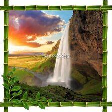 Sticker autocollant Cadre bambou Chute d'eau7150
