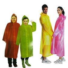 Mantella Poncho Impermeabile Bambini Adulti Anti Pioggia Gita Con Cappuccio 3013