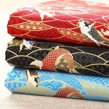 Giapponesi tessuto di cotone PESCE ONDA FAI DA TE Kimono tenda tappezzeria