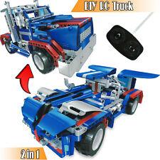 Rc Car 3D Building Blocks Set Construction Children Toys Lego Block Kids