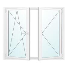 Kunststofffenster - Fenster 2 fach - 2-flügliges Stulpfenster weiß - Premium