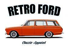 FORD CORTINA mk1 ESTATE  t-shirt. RETRO FORD. CLASSIC CAR. BRITISH CAR.