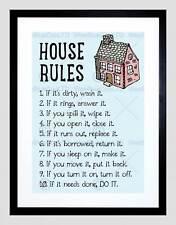 Cotización de reglas casa hogar Inspiración imagen de impresión arte enmarcado Negro B12X13721