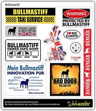 Adesivo Auto Sticker Bullmastiff Collection dog raccolta REFLEX siviwonder
