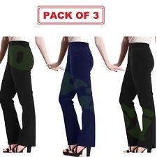 Femme Infirmière Travail Décontracté Côtelé Bootleg Pack de 3 stretch Pantalons Pantalons