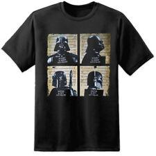Star Wars Vader Bobba Fett Mugshots T SHIRT episode 8 The Last Jedi Sith VIII