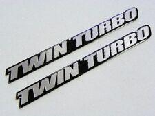 QTY 2 TWIN TURBO ENGINE ALUMINUM EMBLEMS BADGES FOR FITS NISSAN 300ZX TT PAIR