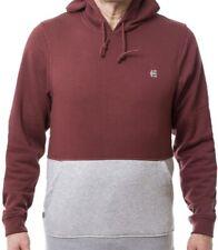 ETNIES Essec Pro Fleece Hoodie weinrot/grau mit Logo Herren NEU